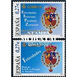 2004 Spanien 3955/4007  Hochzeit Felipe-Letizia. 4 Sprachen  ** Perfekter Zustand  (Michel)