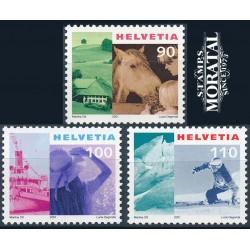 2001 - Switzerland  Sc# 1103/1105  ** MNH Very Nice. Tourism (Scott)
