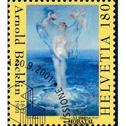 2001 - Switzerland  Sc# 1106  © Used, Nice. The Birth of Venus (Scott)