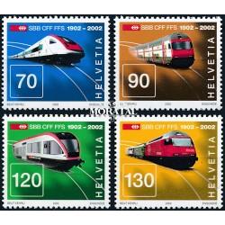 2002 - Switzerland  Sc# 1116/1119  ** MNH Very Nice. Swiss Railways (Scott)