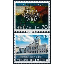 2002 - Switzerland  Sc# 1112/1113  ** MNH Very Nice. Anniversaries (Scott)