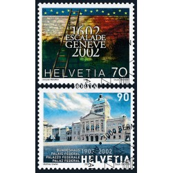 2002 - Switzerland  Sc# 1112/1113  © Used, Nice. Anniversaries (Scott)