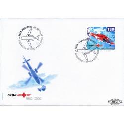 2002 - Switzerland  Sc# 1114  F.D.C.  Nice. Rega Air Rescue (Scott)