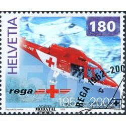 2002 - Switzerland  Sc# 1114  © Used, Nice. Rega Air Rescue (Scott)