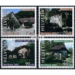 2002 - Switzerland  Sc# B664/B667  ** MNH Very Nice. Pro Patria 02 (Scott)