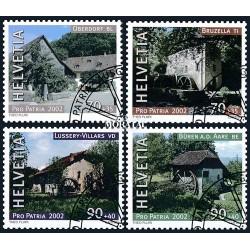 2002 - Switzerland  Sc# B664/B667  © Used, Nice. Pro Patria 02 (Scott)