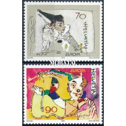 2002 - Switzerland  Sc# 1121/1122  ** MNH Very Nice. Europa 02 (Scott)