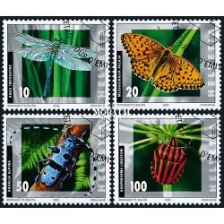 2002 - Switzerland  Sc# 1126/1129  © Used, Nice. Insects (Scott)