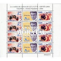 2004 Espagne 3665/3666  Feuille MP Espagne 2004. Taureaux  **MNH TTB Très Beau  (Yvert&Tellier)