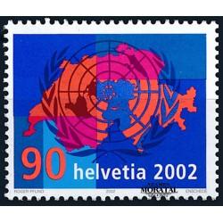 2002 - Switzerland  Sc# 1132  ** MNH Very Nice. Switzerland's Entry Into United Nations (Scott)