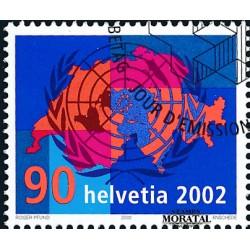 2002 - Switzerland  Sc# 1132  © Used, Nice. Switzerland's Entry Into United Nations (Scott)