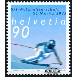 2002 - Switzerland  Sc# 1134  ** MNH Very Nice. World Alpine Skiing (Scott)