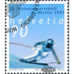 2002 - Switzerland  Sc# 1134  © Used, Nice. World Alpine Skiing (Scott)