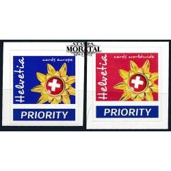 2002 - Switzerland  Sc# 1135/1136  ** MNH Very Nice. Emblem Switzerland Tourism (Scott)