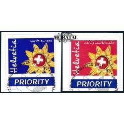 2002 - Switzerland  Sc# 1135/1136  © Used, Nice. Emblem Switzerland Tourism (Scott)