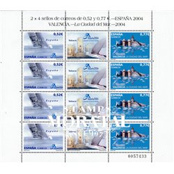 2004 Spanien 3966/3967  Zd-Bogen MP-Spanien 2004. Stadt von del Mar  ** Perfekter Zustand  (Michel)