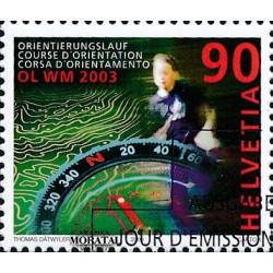 2003 - Switzerland  Sc# 1140  © Used, Nice. World Orienteerin Championiships (Scott)