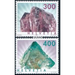 2003 - Switzerland  Sc# 1154/1155  ** MNH Very Nice. Minerals (Scott)