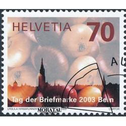 2003 - Switzerland  Sc# 1163  © Used, Nice. Stamp Day (Scott)