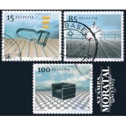 2003 - Switzerland  Sc# 1167/1169  © Used, Nice. Swiss Design (Scott)
