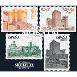 2004 Espagne 3676/3680  Châteaux  **MNH TTB Très Beau  (Yvert&Tellier)