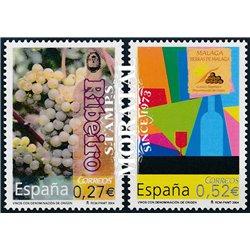 2004 Espagne 3691/3692  Vins d'appellation  **MNH TTB Très Beau  (Yvert&Tellier)