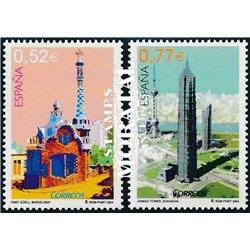 2004 Espagne 3697/3698  Architecture (en collaboration avec la Chine)  **MNH TTB Très Beau  (Yvert&Tellier)