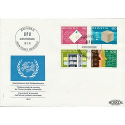 1976 Switzerland Sc 0 U.P.U.  FDC Nice  (Scott)