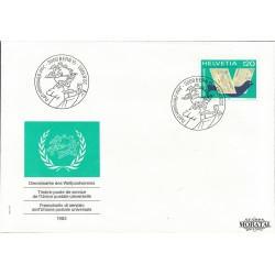 1983 Switzerland Sc 0 U.P.U.  FDC Nice  (Scott)