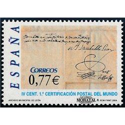 2004 Espagne 3704 Journée du timbre 4  **MNH TTB Très Beau  (Yvert&Tellier)
