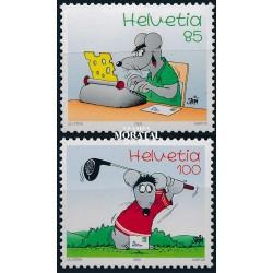 2005 Switzerland Sc 1203/1204 Cartoon Mouse  **MNH Very Nice, Mint Never Hinged?  (Scott)