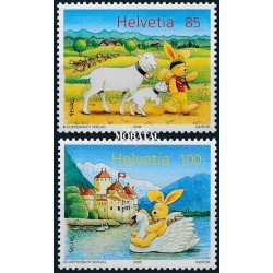 2005 Switzerland Sc 1211/1212 Félix lthe Bunny  **MNH Very Nice, Mint Never Hinged?  (Scott)