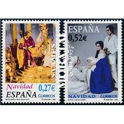 2004 Espagne 3707/3708  4 Noël  **MNH TTB Très Beau  (Yvert&Tellier)