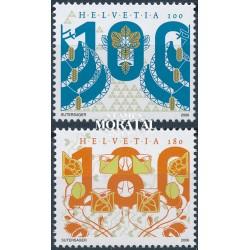 2006 Switzerland Sc 1233/1234 Art Nouveau. Fir and Petal  **MNH Very Nice, Mint Never Hinged?  (Scott)
