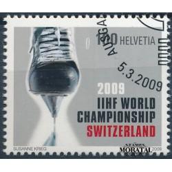 2009 Switzerland Sc 0 World 09 ice hockey  (o) Used, Nice  (Scott)