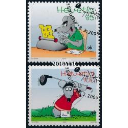 2005 Switzerland Sc 1203/1204 Cartoon Mouse  (o) Used, Nice  (Scott)