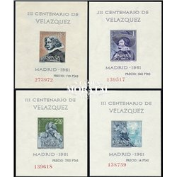 1961 Espagne BF-21/24  BF Velazquez Peinture *MH TB Beau  (Yvert&Tellier)