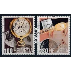 2005 Switzerland Sc 1215/1216 Swiss Timepieces  (o) Used, Nice  (Scott)
