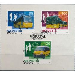 2006 Switzerland Sc 1235/1237 Post Busses, Cent.  (o) Used, Nice  (Scott)