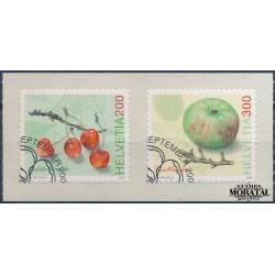 2006 Switzerland Sc 1250/1251 Fruit  (o) Used, Nice  (Scott)