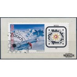 2007 Switzerland Sc 1286 Skiers and Swiss Post  (o) Used, Nice  (Scott)