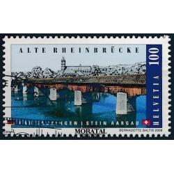 2008 Switzerland Sc 0 Wooden bridge over the river Rhine  (o) Used, Nice  (Scott)