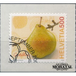 2008 Switzerland Sc 1314 Fruits. The catillac PEAR  (o) Used, Nice  (Scott)