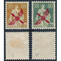 1919 Switzerland Sc C1/C2 Overprinted in Carmine  *MH Nice, Mint Hinged  (Scott)