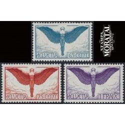 1924 Switzerland Sc C10/C12 Alegoriacal Figure of Flight  **MNH Very Nice, Mint Never Hinged?  (Scott)