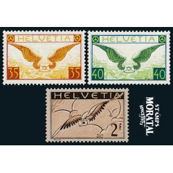 1929 Switzerland Sc C13/C15 Alegory and Bird Carryng. Granite Paper  *MH Nice, Mint Hinged  (Scott)