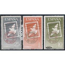 1961 Espagne 1021/1023  Journée du timbre Philatélie *MH TB Beau  (Yvert&Tellier)