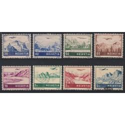 1941 Switzerland Sc C27/C34 Views. Tinted Granite Paper  **MNH Very Nice, Mint Never Hinged?  (Scott)