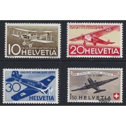 1944 Switzerland Sc C37/C40 25th anniv. of the 1st regular air route  **MNH Very Nice, Mint Never Hinged?  (Scott)