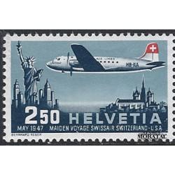 1947 Switzerland Sc C42 Geneva-EEUU Flight  **MNH Very Nice, Mint Never Hinged?  (Scott)